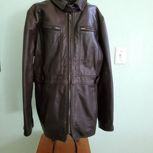 Banana Republic Brown Leather Jacket. Size L